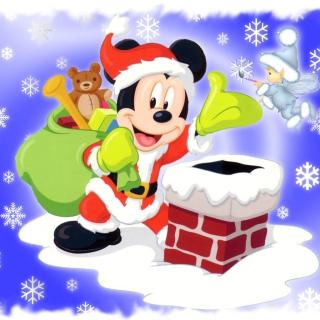 Mickey Santa - Obrázkek zdarma pro 128x128