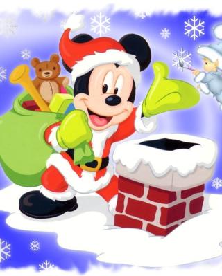 Mickey Santa - Obrázkek zdarma pro Nokia C6
