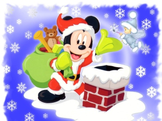 Mickey Santa - Obrázkek zdarma pro 1440x1280