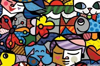 Romero Britto Brazilian Designer - Fondos de pantalla gratis para Nokia X2-01