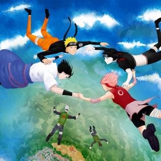 Hatake Kakashi, Sai, Uchiha Sasuke, Haruno Sakura - Obrázkek zdarma pro iPad
