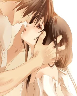 Anime Couple - Obrázkek zdarma pro Nokia Asha 202