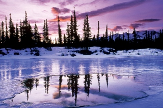 Free Winter Evening Landscape Picture for Android, iPhone and iPad