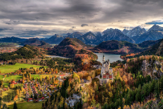 Neuschwanstein Castle Panorama - Obrázkek zdarma pro Desktop 1280x720 HDTV