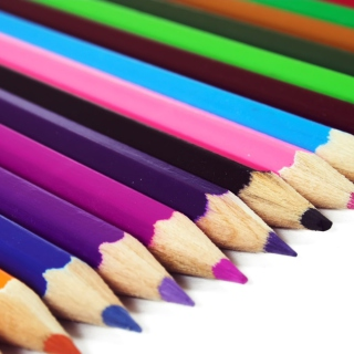 Colored Crayons - Obrázkek zdarma pro iPad mini 2