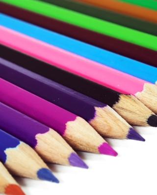Colored Crayons - Obrázkek zdarma pro Nokia X2-02