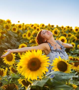 Sunflower Girl - Obrázkek zdarma pro Nokia X2-02