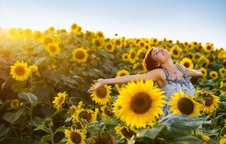 Sunflower Girl - Obrázkek zdarma pro Samsung Galaxy Tab 3