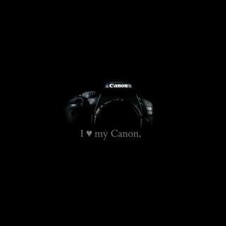 I Love My Canon - Obrázkek zdarma pro iPad