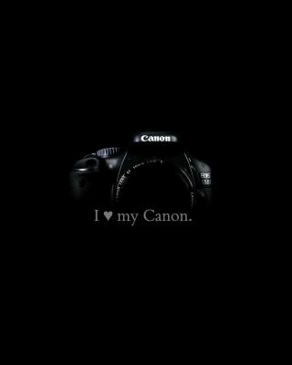 I Love My Canon - Obrázkek zdarma pro 128x160