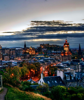 Edinburgh Lights - Obrázkek zdarma pro 128x160