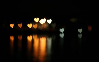 Heart Bokeh - Obrázkek zdarma pro HTC Wildfire