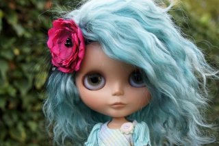 Doll With Blue Hair Picture for Android, iPhone and iPad