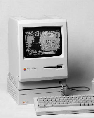 Macintosh Plus - Obrázkek zdarma pro Nokia Asha 308