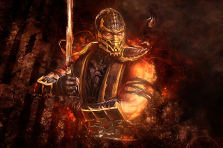 Scorpion in Mortal Kombat Picture for Android, iPhone and iPad