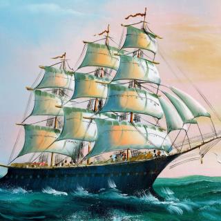 Sailboat in Crimea - Obrázkek zdarma pro 320x320