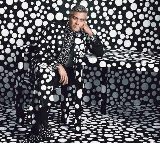 George Clooney Creative Photo - Obrázkek zdarma pro 128x128