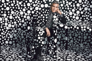 George Clooney Creative Photo - Obrázkek zdarma pro 1366x768