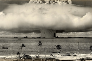 Nuclear Bomb Near The Beach Picture for Android, iPhone and iPad