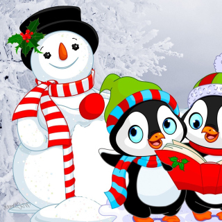 Snowman and Penguin Toys - Obrázkek zdarma pro 128x128