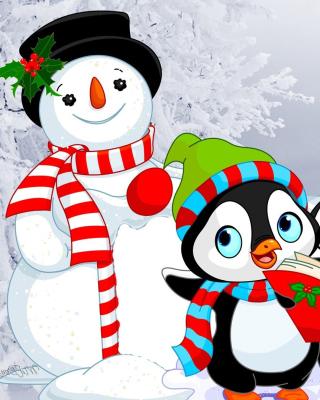 Snowman and Penguin Toys - Obrázkek zdarma pro 360x400