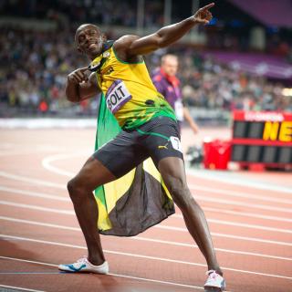 Usain Bolt won medals in the Olympics - Obrázkek zdarma pro iPad Air