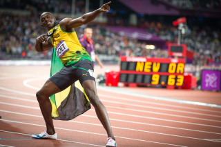 Usain Bolt won medals in the Olympics Picture for Android, iPhone and iPad