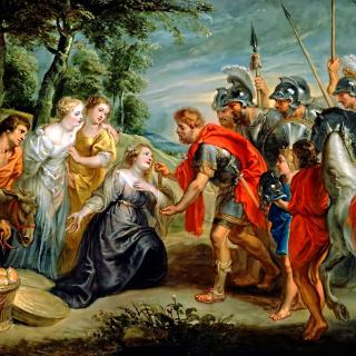 Rubens David Meeting Abigail Painting in Getty Museum - Obrázkek zdarma pro 1024x1024
