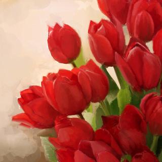 Art Red Tulips - Obrázkek zdarma pro iPad 2