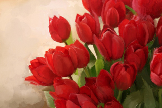 Art Red Tulips Background for Android, iPhone and iPad