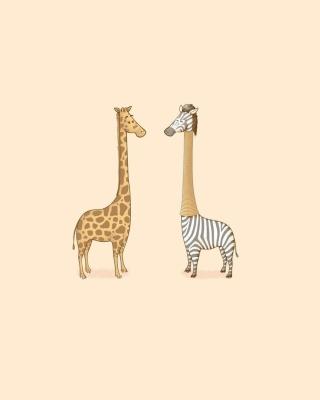 Giraffe-Zebra - Obrázkek zdarma pro Nokia Asha 300