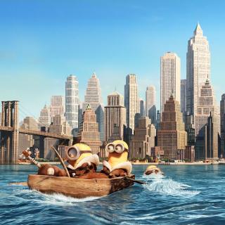 Minions in New York - Obrázkek zdarma pro iPad mini