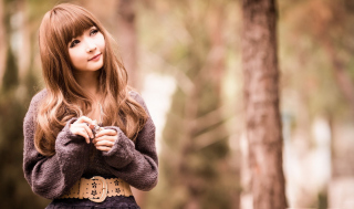 Cute Asian Girl Wallpaper for Android, iPhone and iPad