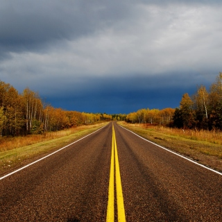 Autumn Road - Obrázkek zdarma pro iPad Air