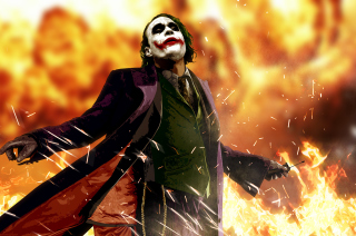 Free Heath Ledger As Joker - The Dark Knight Movie Picture for Android, iPhone and iPad