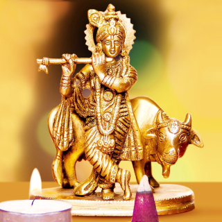 Lord Krishna with Cow - Obrázkek zdarma pro iPad mini