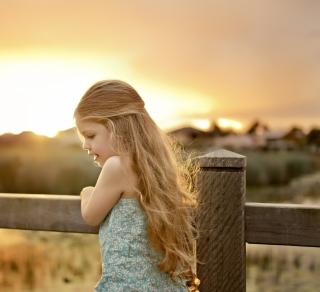 Little Angel Blonde Girl - Obrázkek zdarma pro 128x128