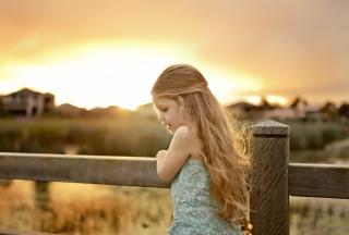 Little Angel Blonde Girl - Obrázkek zdarma pro Fullscreen Desktop 1400x1050