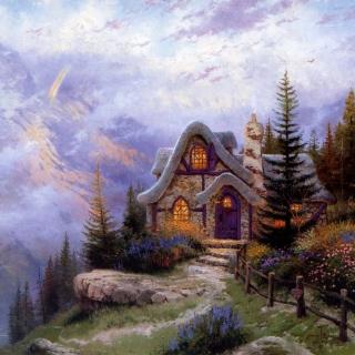 Thomas Kinkade, Sweetheart Cottage - Obrázkek zdarma pro 1024x1024