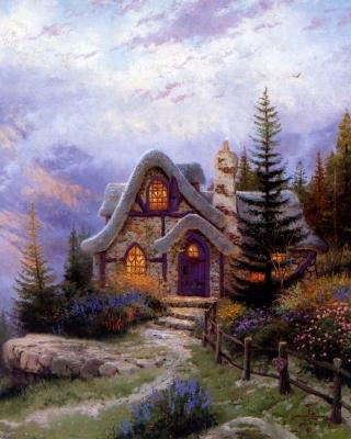 Thomas Kinkade, Sweetheart Cottage - Obrázkek zdarma pro 480x640