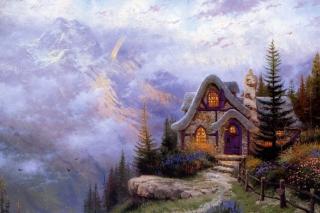Thomas Kinkade, Sweetheart Cottage - Obrázkek zdarma pro Fullscreen Desktop 1024x768