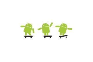 Android Skater - Obrázkek zdarma pro HTC One X