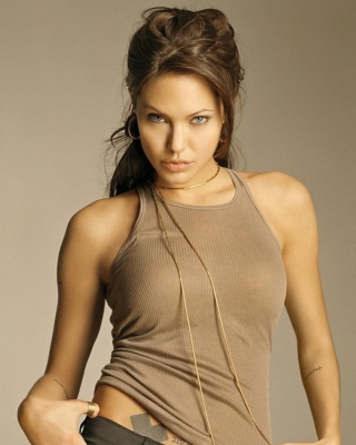 Angelina Jolie - Obrázkek zdarma pro 352x416
