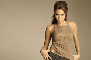 Angelina Jolie - Obrázkek zdarma pro Samsung Galaxy S II 4G