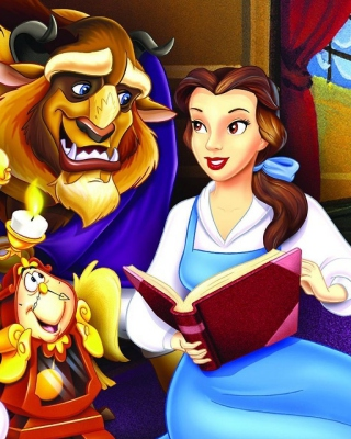 Beauty and the Beast with Friends - Obrázkek zdarma pro Nokia Asha 310