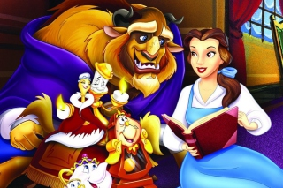 Beauty and the Beast with Friends - Obrázkek zdarma pro Samsung Galaxy Tab 4 8.0
