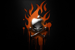 Apple On Fire Picture for Android, iPhone and iPad