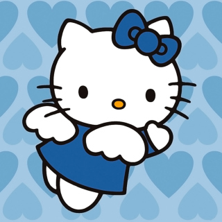 Hello Kitty Blue - Obrázkek zdarma pro iPad mini