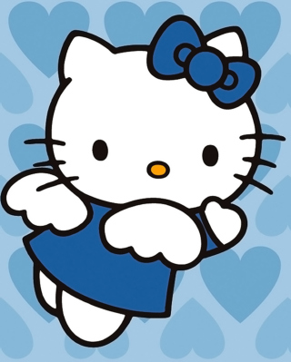 Hello Kitty Blue - Obrázkek zdarma pro Nokia Asha 305