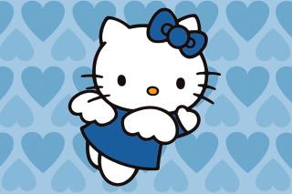 Hello Kitty Blue - Obrázkek zdarma pro Nokia X2-01